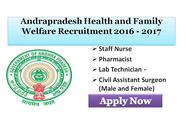 Andra Pradesh, Andrapradesh, Kurnool, DM&HO, Jobs  Staff Nurse, Lab Technician, Pharmacist, Health, Family, welfare,Department, Recruitment, Notification, Application Form