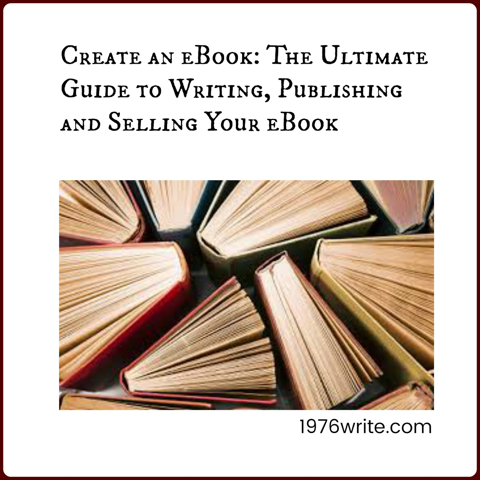 1976write july 2017 create an ebook the ultimate guide to writing publishing and selling your ebook fandeluxe Gallery