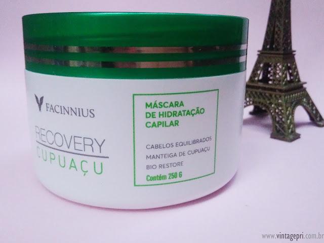 #Testei: Máscara Recovery Cupuaçu (Facinnius Cosméticos)