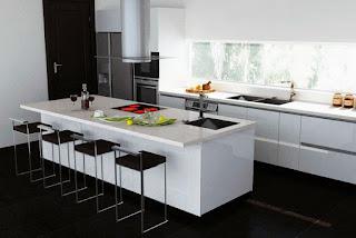 Mini Kitchen Design Tips-Flavoured Black White