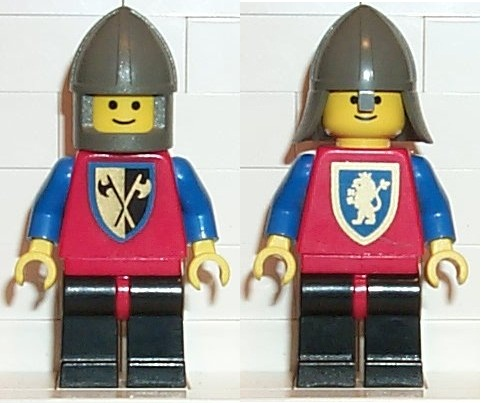 Vintage LEGO Castle Crusader Lion Guard Minifig w//Lion Shield Battle Axe 6081