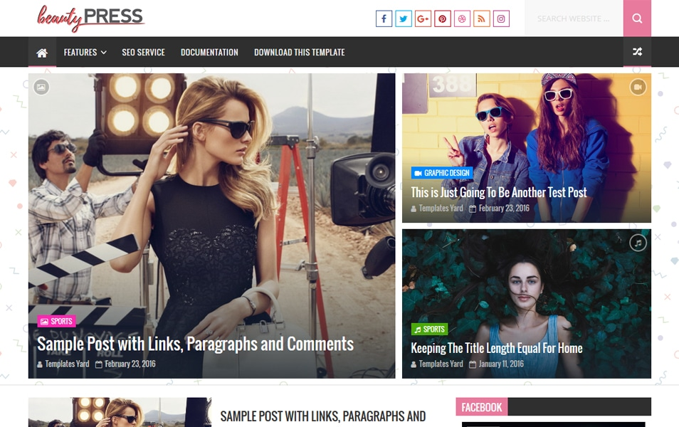 BeautyPress Stylish Blogger Teması