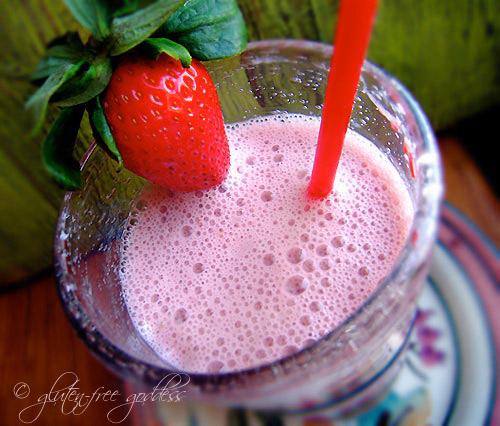 Gluten-Free Goddess Strawberry Smoothie