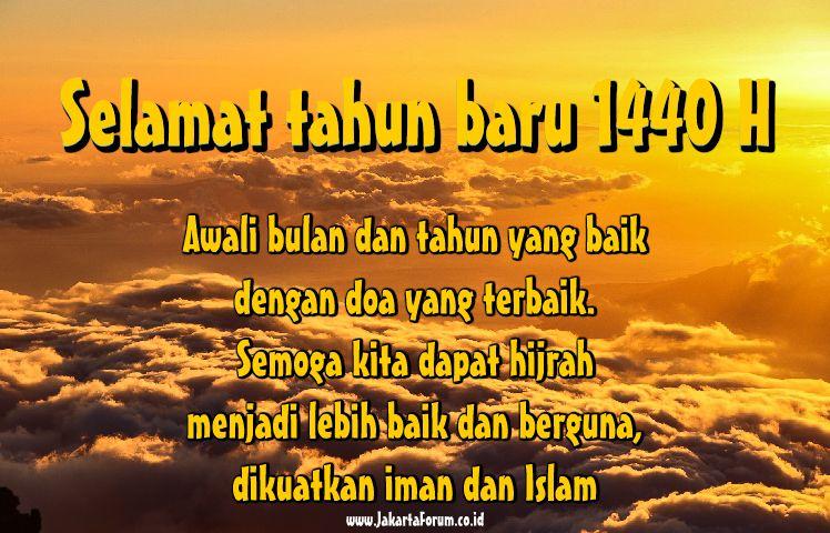 9 Gambar Kata Kata Ucapan Dan Doa Tahun Baru 1440 Hijriah