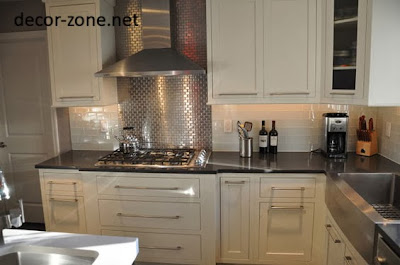 silver kitchen backsplash tile ideas