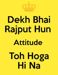 Rajput Attitude Status Image