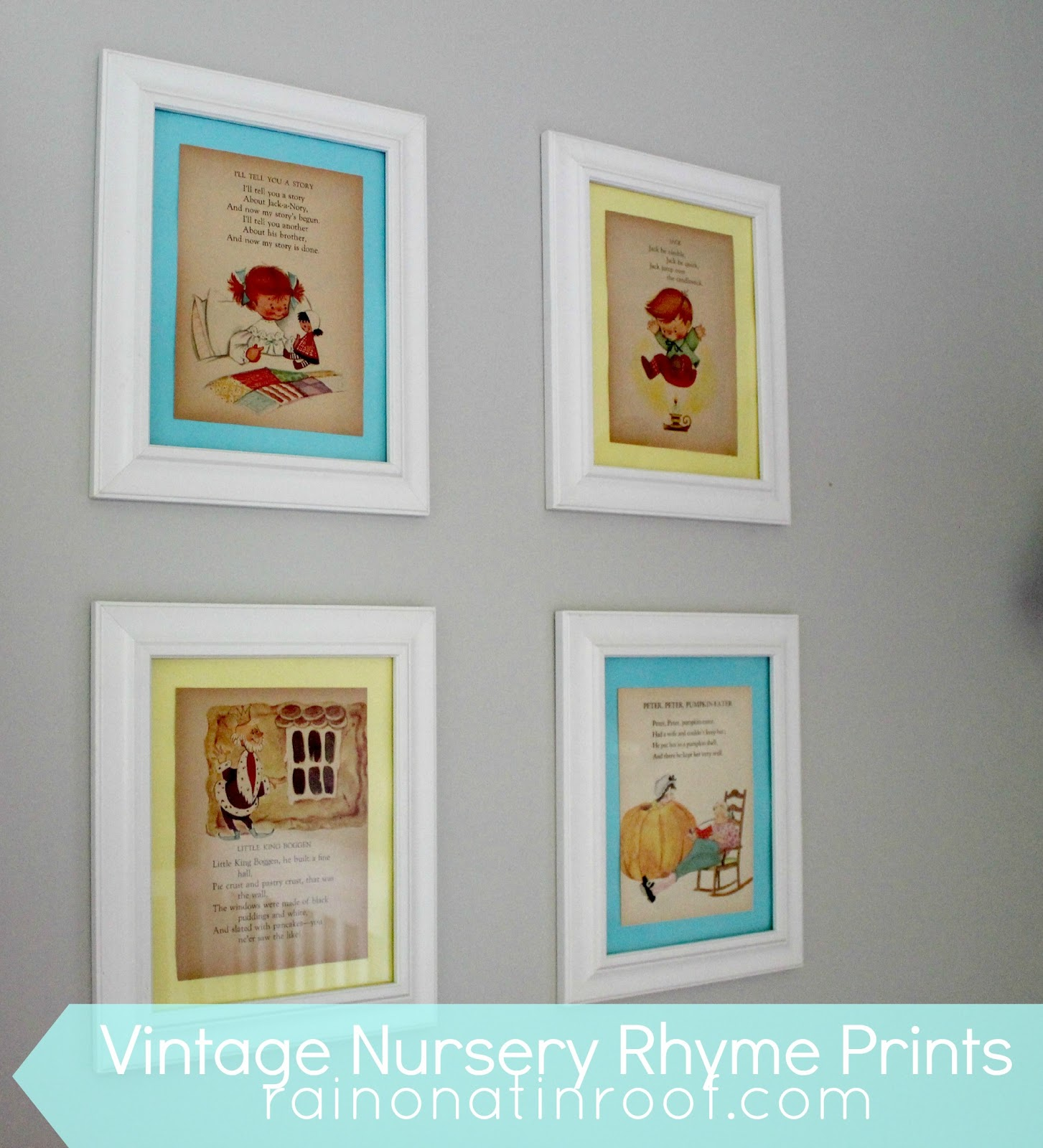 Diy Vintage Nursery Rhyme Wall Art Rainonatinroof