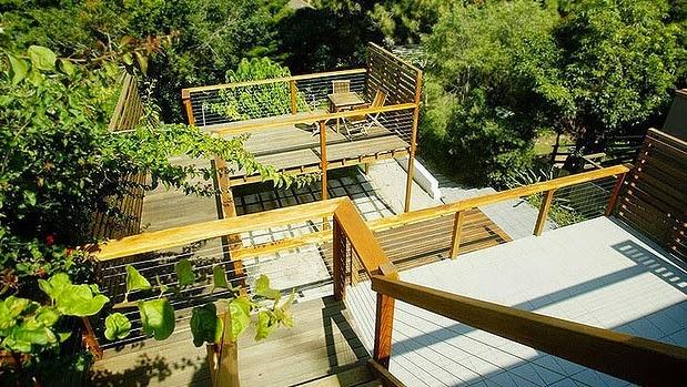 Backyard Landscaping Sloped Backyard Deck Ideas
