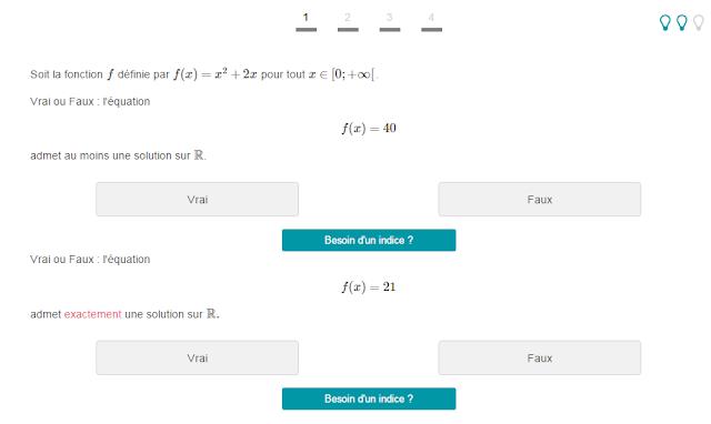 les exercices avec indice sur le site  Mathrix