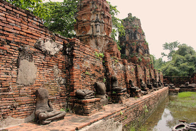 Ruinen von Wat Maha That in Ayutthaya