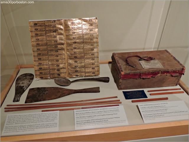 Museo de Concord: Utensilios Elaboración Lápices
