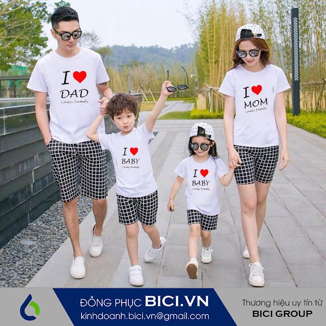 mẫu áo đồng phục gia đình 1