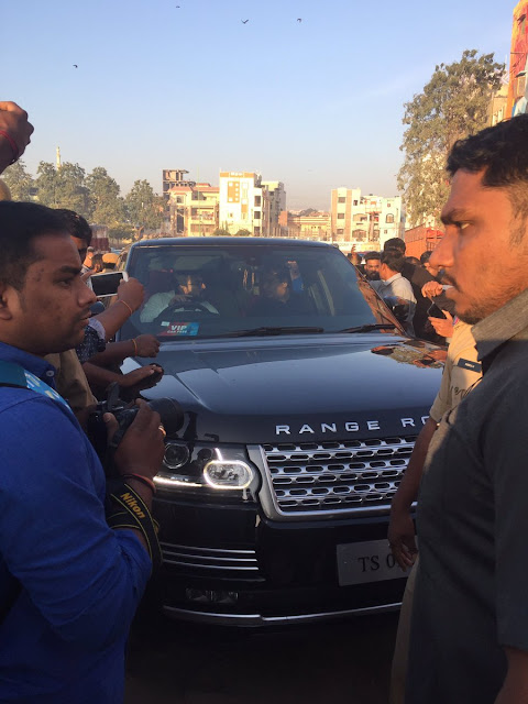 Ramcharan Range Rover Car at 10krun neklace road