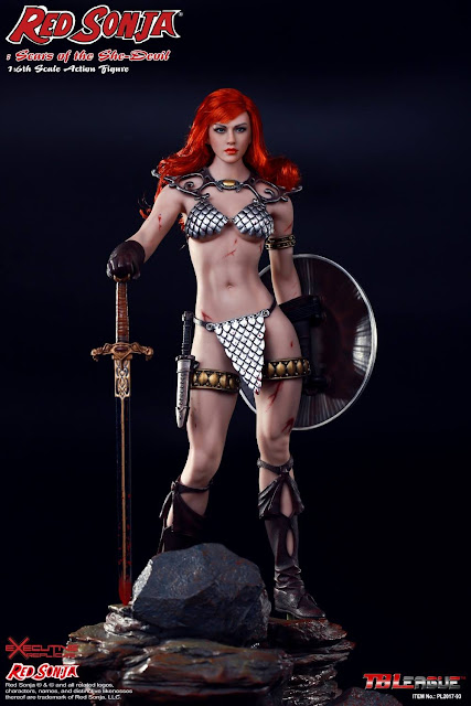 osw.zone Check out TBLeague 1 / 6. Skala Red Sonja: Narben der She-Devil 12-Zoll weibliche Figur