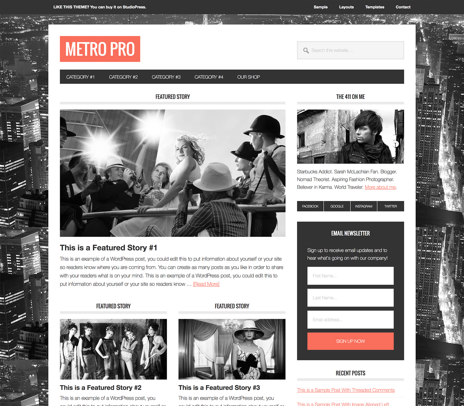 Metro Pro WordPress Theme Free Download - Genesis Framework ...