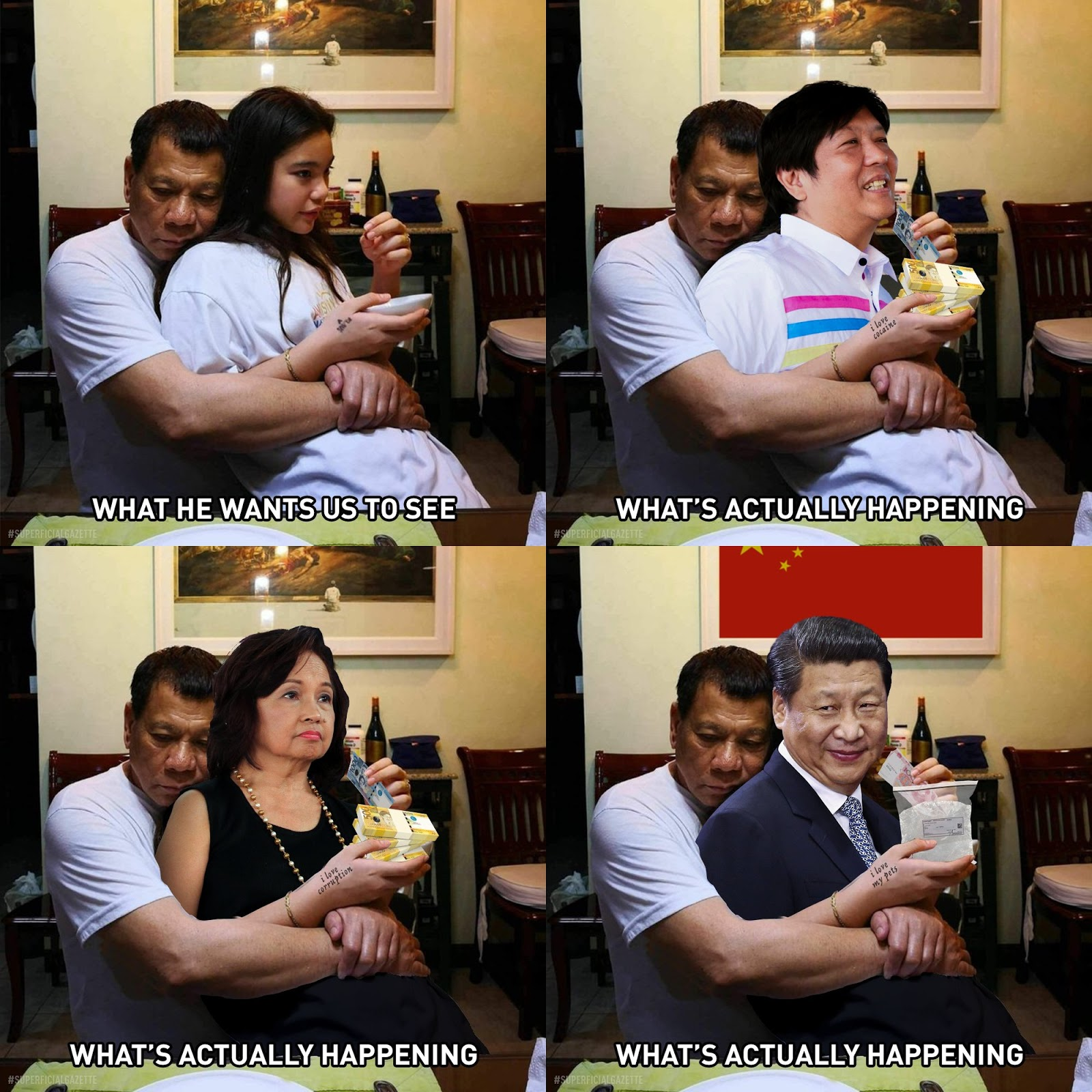Photo Of Duterte With Kitty Turned Into A Vicious And Distasteful