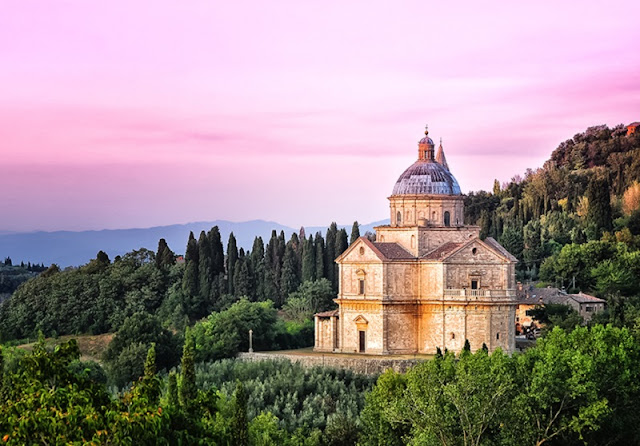 Tempio di San Biagio localizado um pouco afastado do centro turístico de Montepulciano