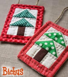 http://blog.bichus.es/2013/12/patchwork-adorno-arbolito-navideno.html
