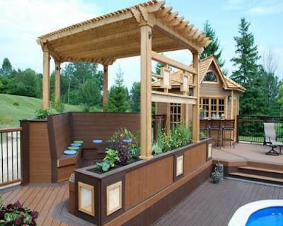 Biến tấu linh hoạt với sàn gỗ ngoài trời cho không gian bên ngoài