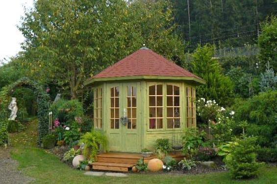 Häuschen im Garten Gartenhütte