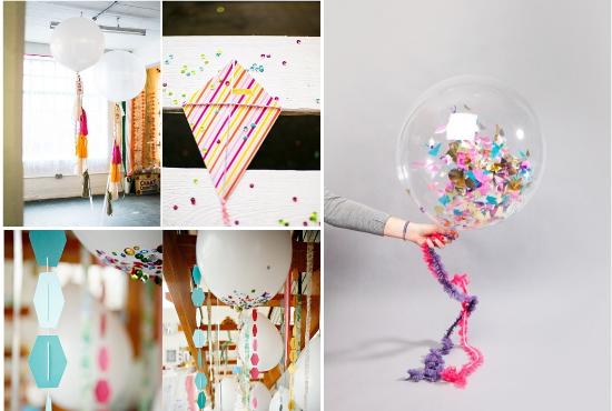 Confetti Wedding balloons