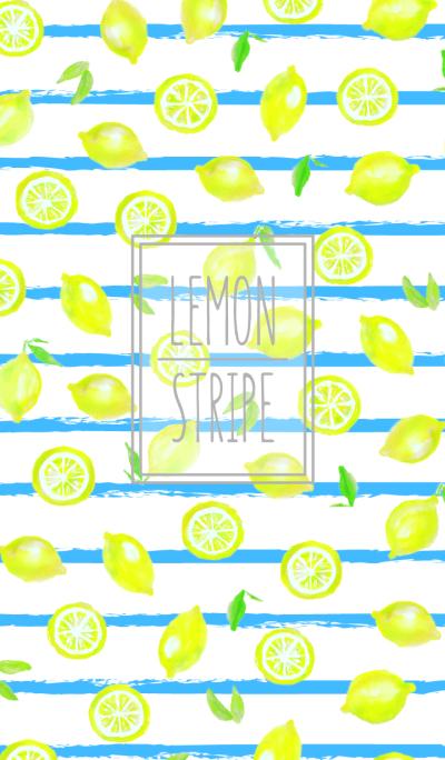 lemon stripe:summer watercolor WV