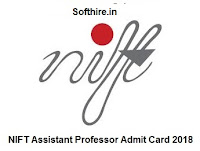 NIFT Assistant Professor Admit Card
