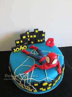 O Homem Aranha no 4º aniversário do João