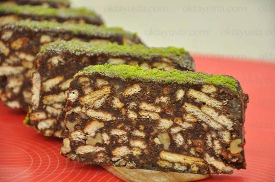 Kestane Şekerli Mozaik Pasta