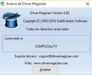 Driver Magician Español Versión 4.82