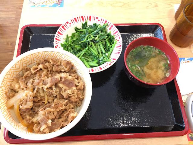 牛丼青菜套餐