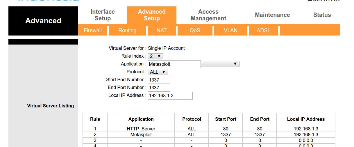 Port Forwarding di Router TP-LINK Telkom Speedy