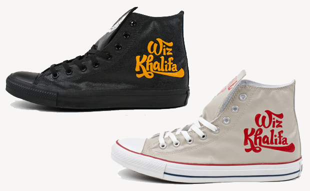 "7d0b0fe3678c Smash singles result in celebratory customs for Wiz Khalifa. Artist Ben  Smith of Brush Footwear tributes the songs ""Black   Yellow"" and ""Roll Up""  on the ..."