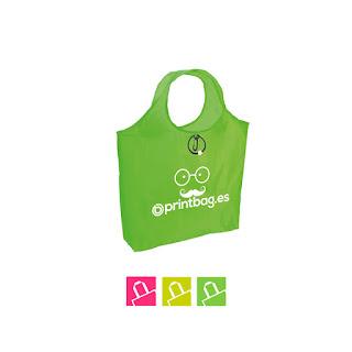 Bolsas plegables fluorescentes personalizada verde pistacho