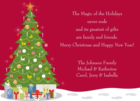 christmas card messages, verses, and sayings, Greeting card