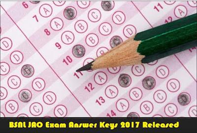 November 5th and 6th BSNL JAO Answer Keys 2017 externalbsnlexam.com