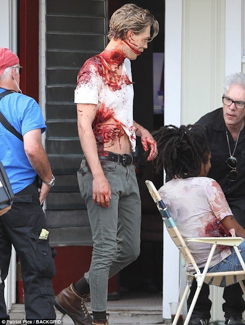 The Dead Don't Die: Austin Butler sul set