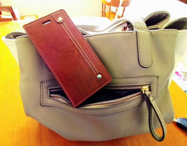 iPhone 6 cell phone wallet fits in purse easily #ad
