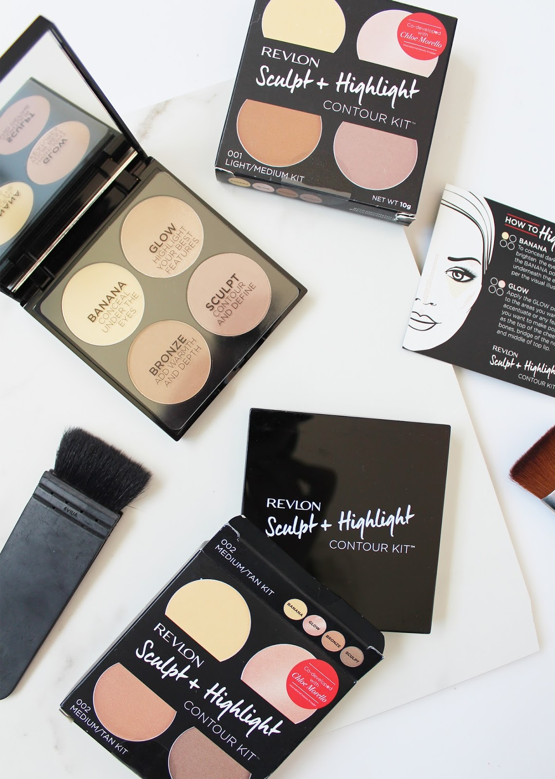 REVLON X CHLOE MORELLO | Sculpt + Highlight Kit - Review + Swatches - CassandraMyee