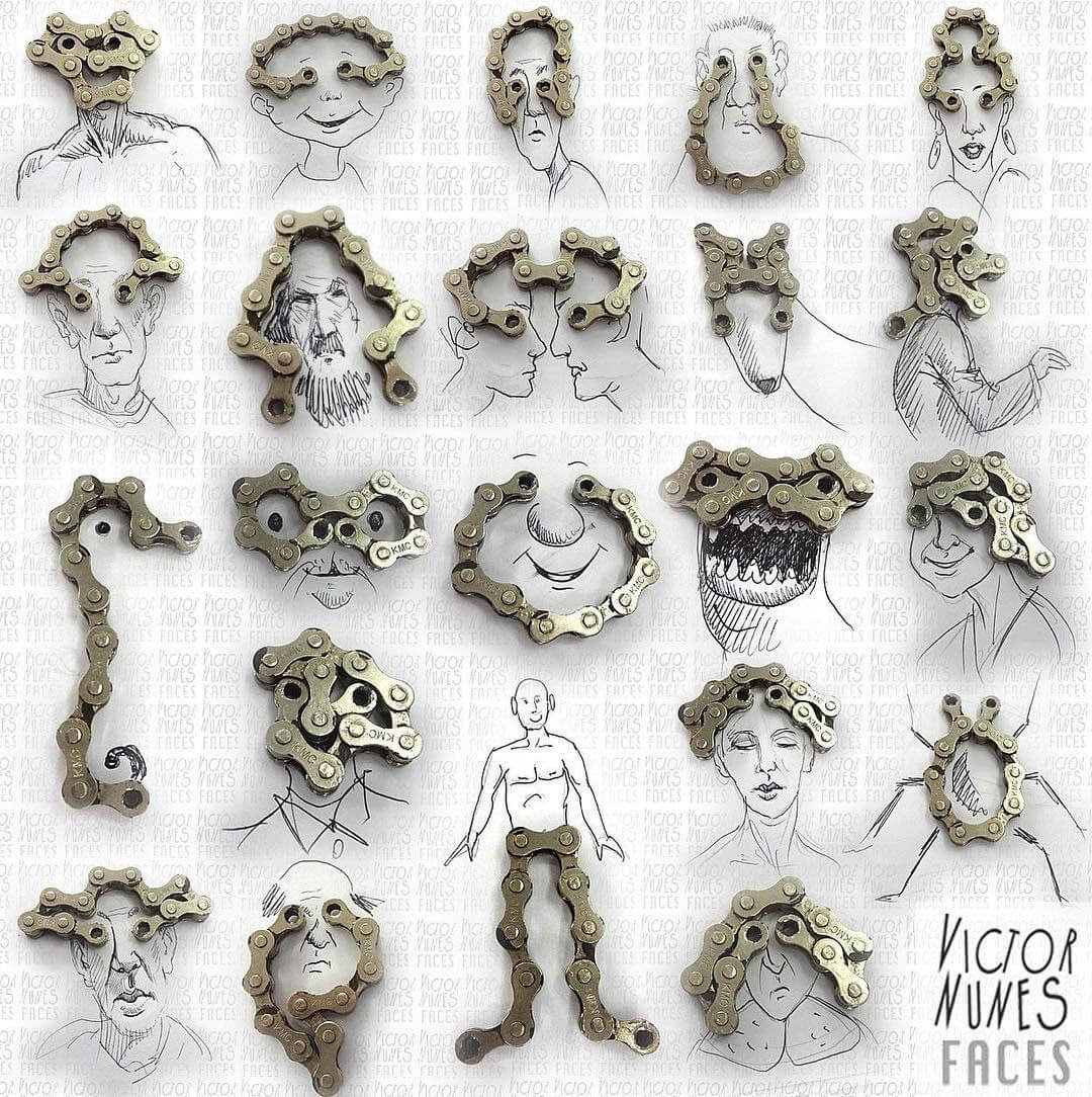 09-Bicycle-Chain-Victor-Nunes-Drawing-Everything-out-of-Anything-www-designstack-co