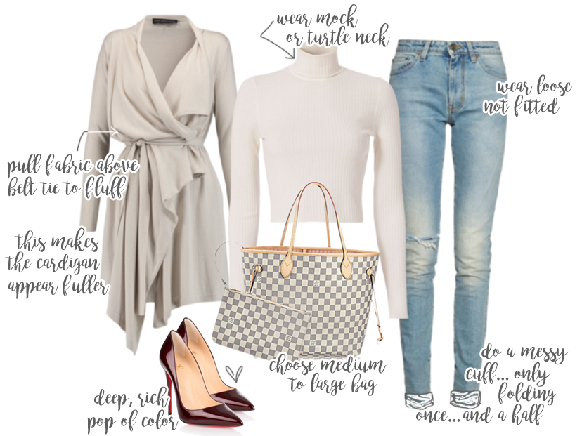 Beautiful draped cardigan pair with jeans and pumps for the Fall