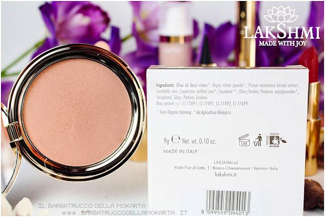 compact foundation inci fondotinta compatto lakshmi makeup vegan ecobio