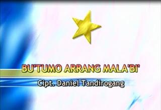 Lirik Lagu Bu'tumo Arrang Mala'bi (Daniel Tandirogang)