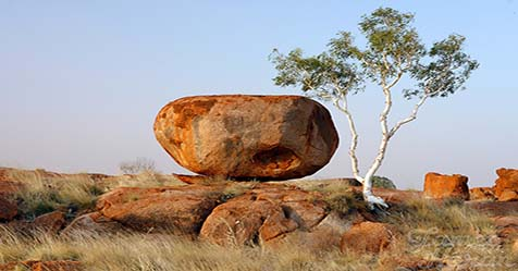 Devils Marbles the Sacred Place for Aborigines in Australia