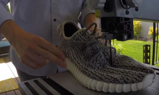 The Sneaker Addict Guy Cuts Adidas Yeezy 350 Turtle Dove