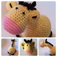 Giraffe, häkeln, gelb, DIY, Loewchenzimmer, Löwchenzimmer,