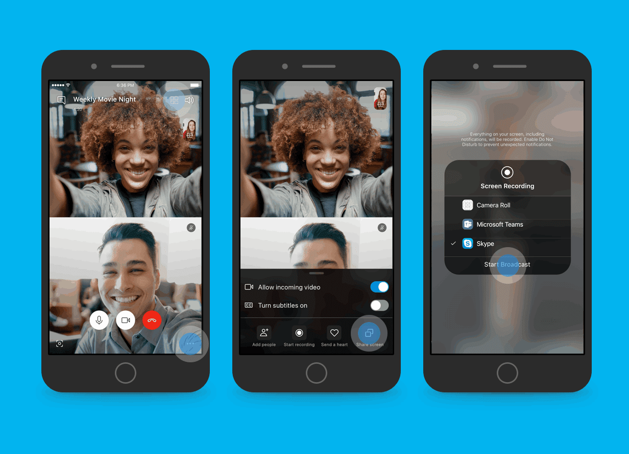 Skype will soon Allow Screen Sharing during Calls on Android and iOS