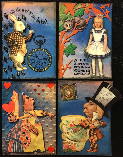Alice in Wonderland ATC cards for a swap