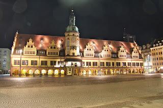 Altes Rathaus Leipzig bei Nacht