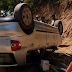 URGENTE: Veículo capota próximo a entrada da Usina na PE 71 em Amaraji